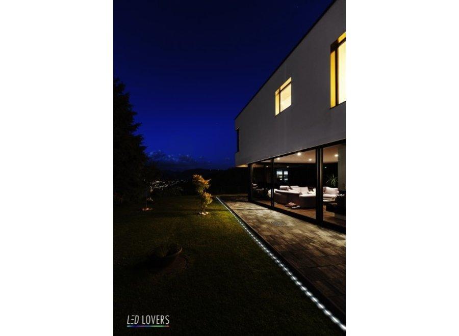 Las Vegas Solar LED Lichtslang - 50 witte lampjes LED Lovers