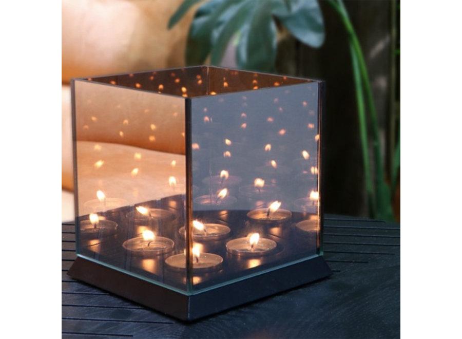 Candle Light Waxinelichthouder - zwart Lifa Living