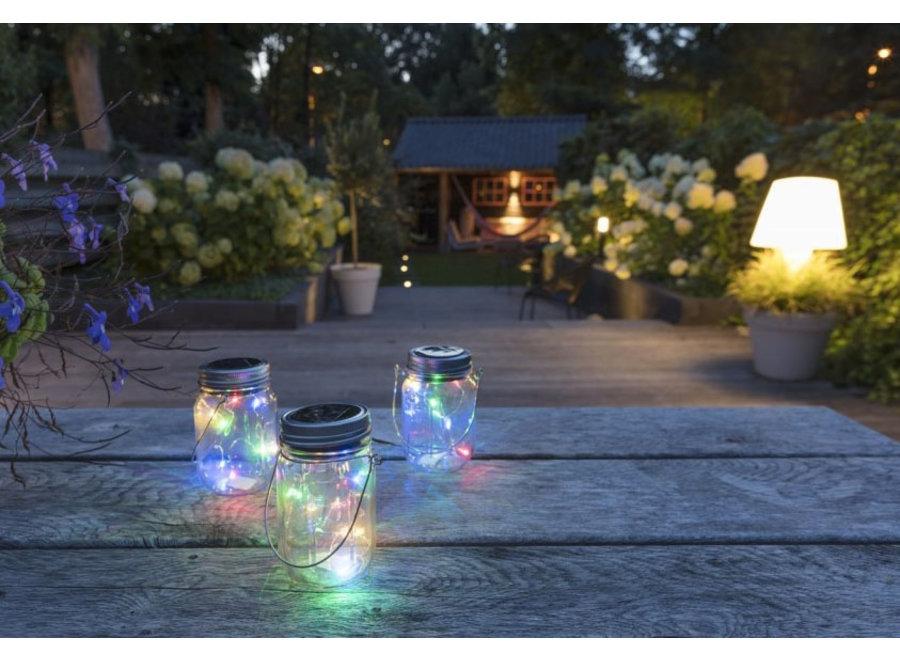 Solar Lampjes in pot - RGB - set van 3 LED Lovers