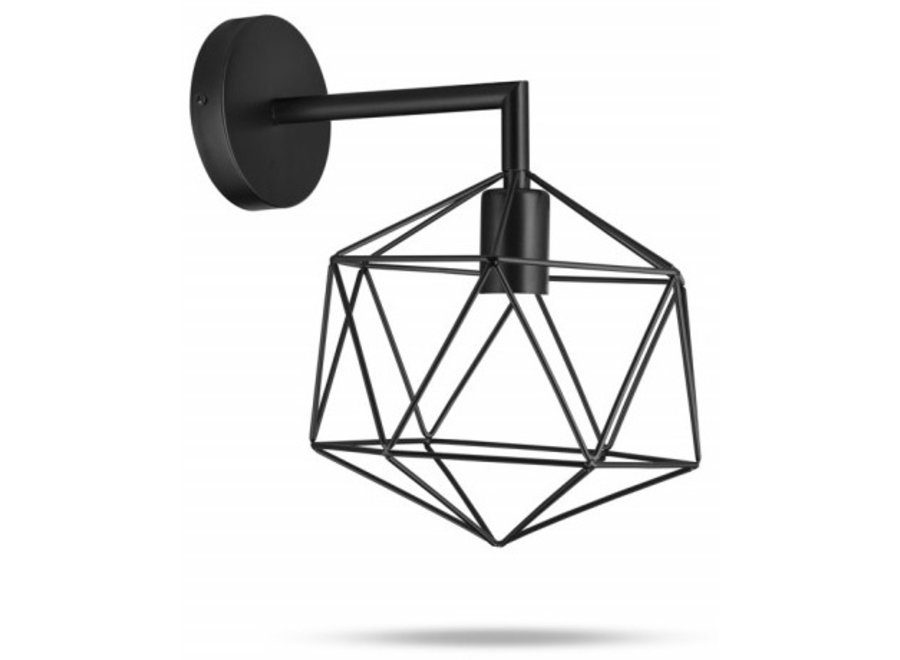Metalen Wandlamp Yvo - zwart Lifa Living