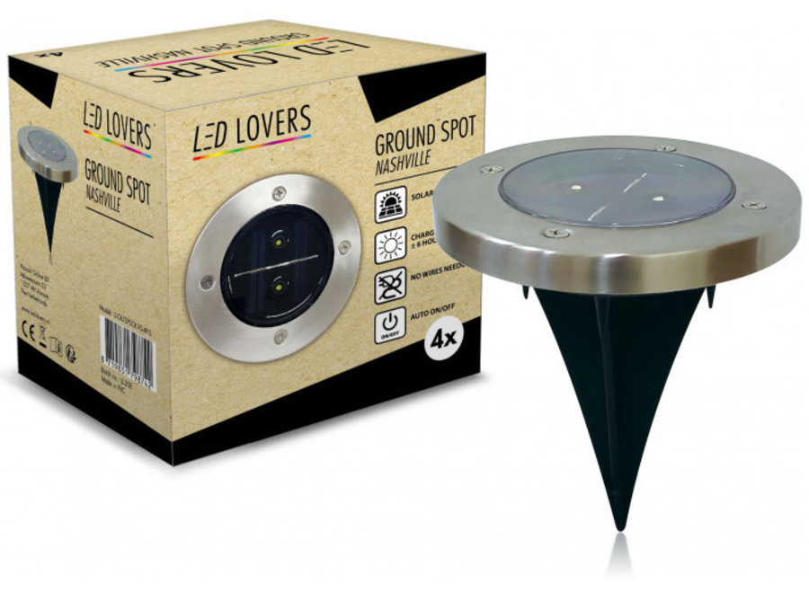 Grondspot Tuinverlichting Nashville - 4-pack LED Lovers