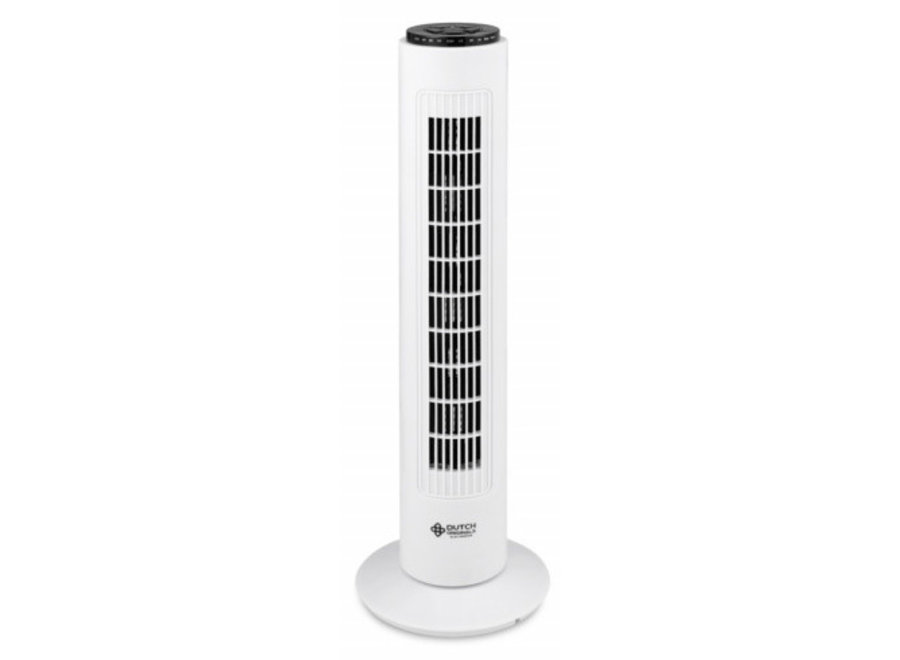 Torenventilator 74 cm - wit + Afstandsbediening Dutch Originals