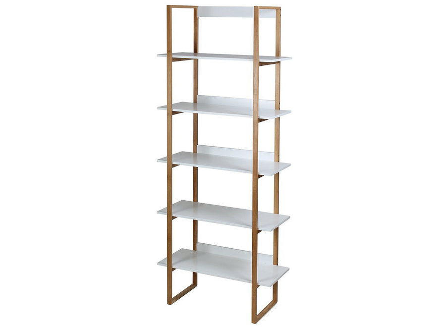 Bamboo Ladder 5-laags wit/bamboe 11160 Casame