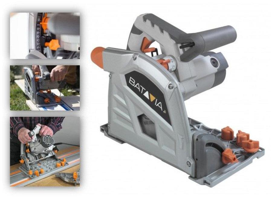 T-Raxx invalzaag 1400W - 165 mm 'professional'' - in koffer 7061274 Batavia