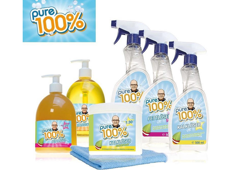 Pure 100% Cleaning set 9-delig