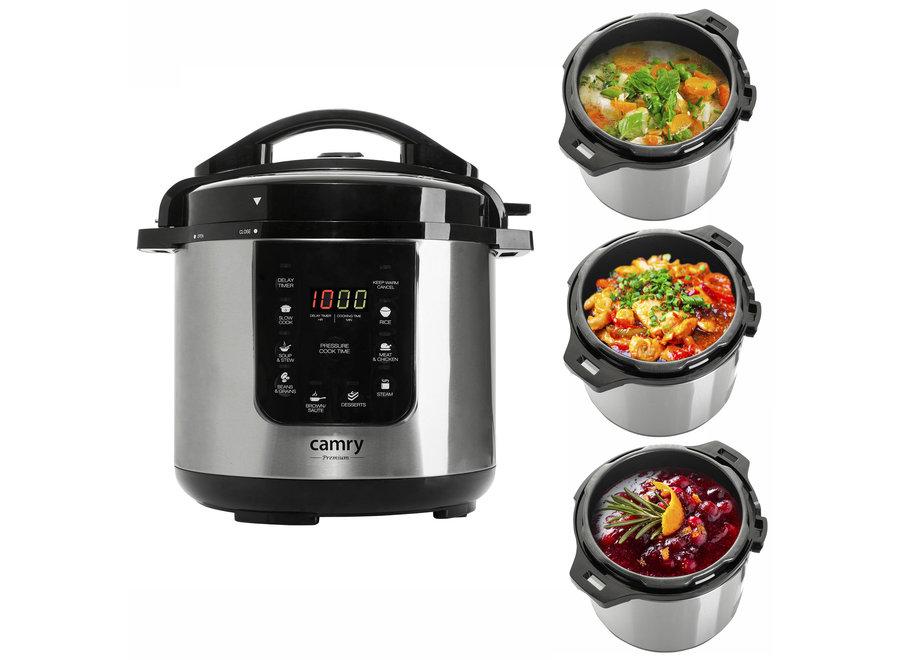 RVS Pressure Cooker 1500W - 6 liter CR 6409 Camry
