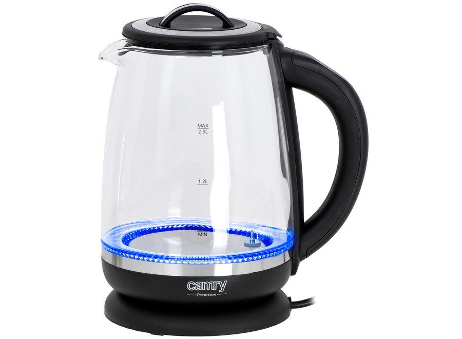 Glazen Waterkoker met Temp. Control & Tea Infuser CR 1290 Camry