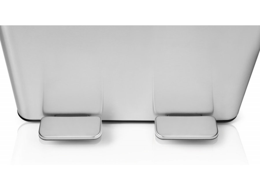 Dubbele Prullenbak - zilver Umuzi Cleaning