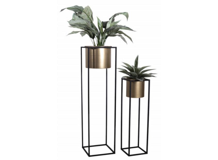 Plantenbak Violet - 2-laags - goud Lifa Living