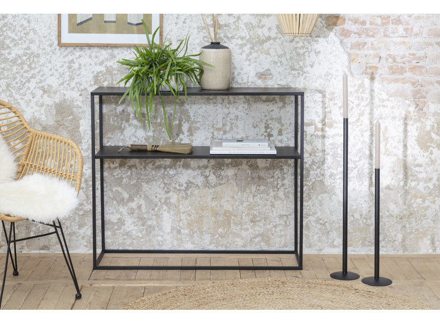 Wandtafel Chartres - zwart -metaal Lifa Living