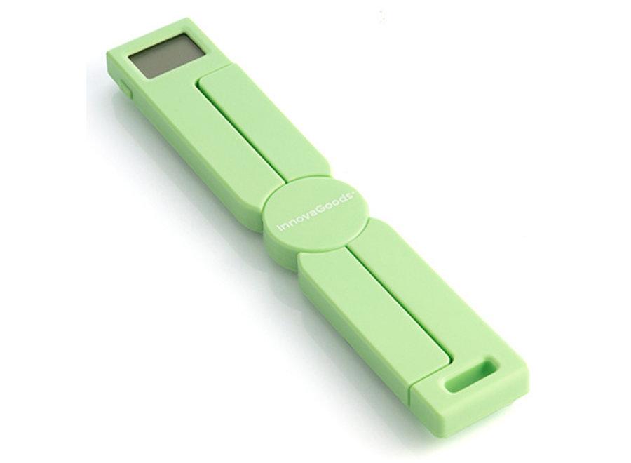 Inklapbare Compact Keukenweegschaal - groen V0103146 Innovagoods