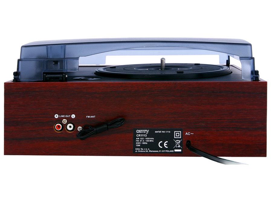 Draaitafel met Radio CR 1113 Camry