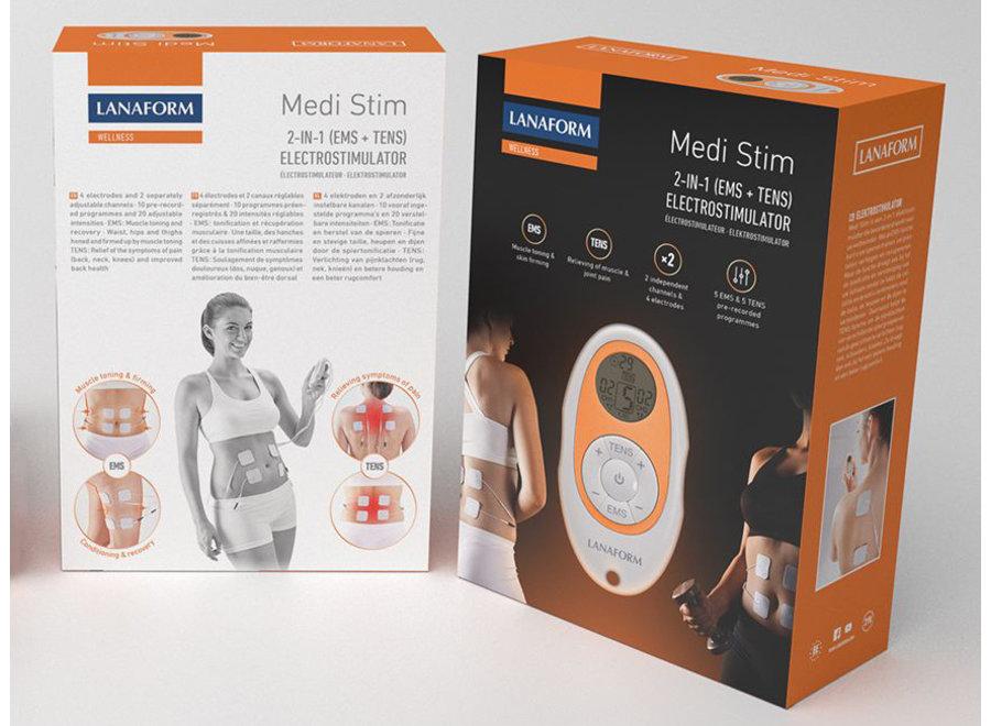 Medi Stim TENS & EMS apparaat LA100207 Lanaform