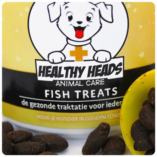 Healthy Heads Fish Treats Snacks Hond - 300g