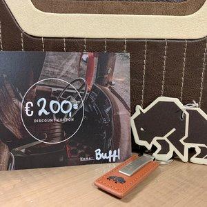 BUFFL Gift voucher € 200,-
