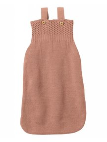 Disana Knitted Sleeping Bag Organic Wool - Rose