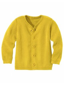 Disana Cardigan Organic Merino Wool - Curry