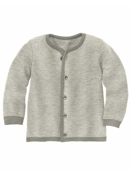 Disana Cardigan Organic Merino Wool - Grey