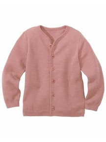 Disana Cardigan Organic Merino Wool - Rose