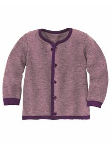 Disana Cardigan Organic Merino Wool - Plum