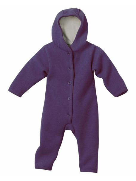 Disana Baby Overall Boiled Wool - Plum