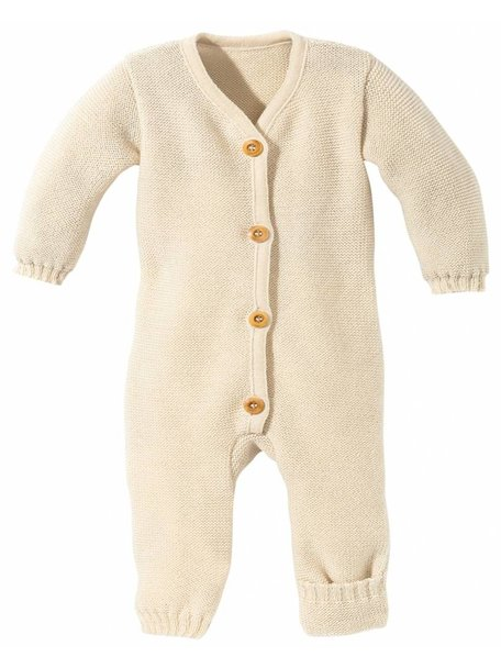 Disana Overall Knitted Merino Wool - Natural