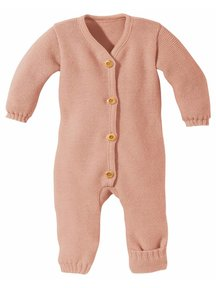 Disana Overall Knitted Merino Wool - Rose