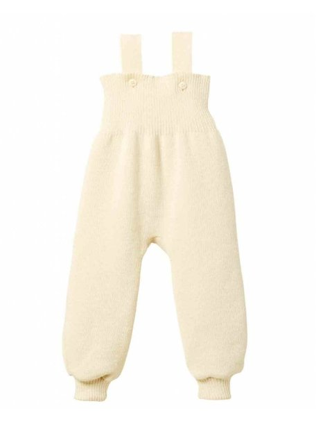 Disana Knitted Dungarees Organic Wool - Natural