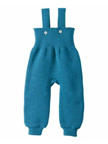 Disana Knitted Dungarees Organic Wool - Blue