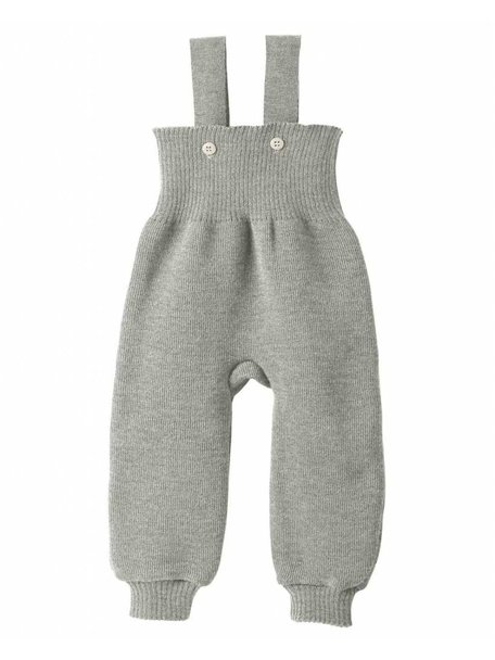 Disana Knitted Dungarees Organic Wool - Grey