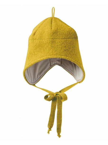 Disana Boiled Wool Hat - Curry