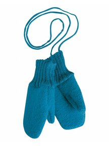 Disana Mittens Boiled Wool - Blue