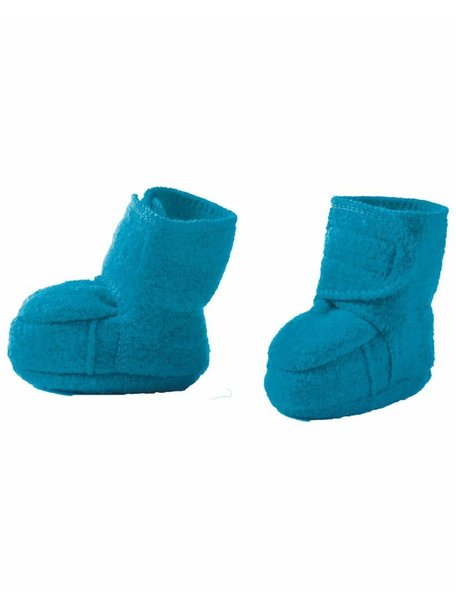 Disana Boiled Wool Booties - Blue