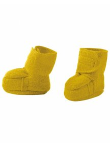 Disana Boiled Wool Booties - Curry
