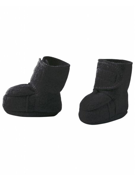 Disana Boiled Wool Booties - Anthracite
