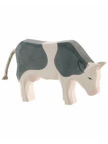 Ostheimer Cow Eating - Black & Whiet