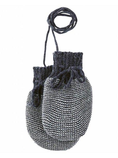 Disana Baby Mittens Organic Merino Wool - Anthracite