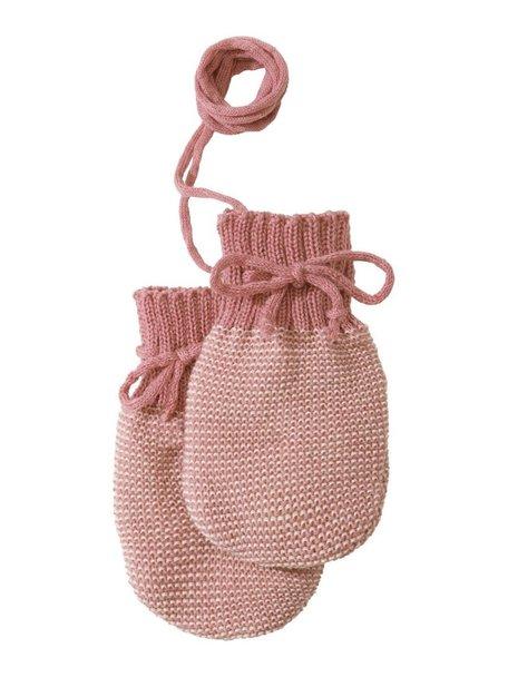 Disana Baby Mittens Organic Merino Wool - Rose