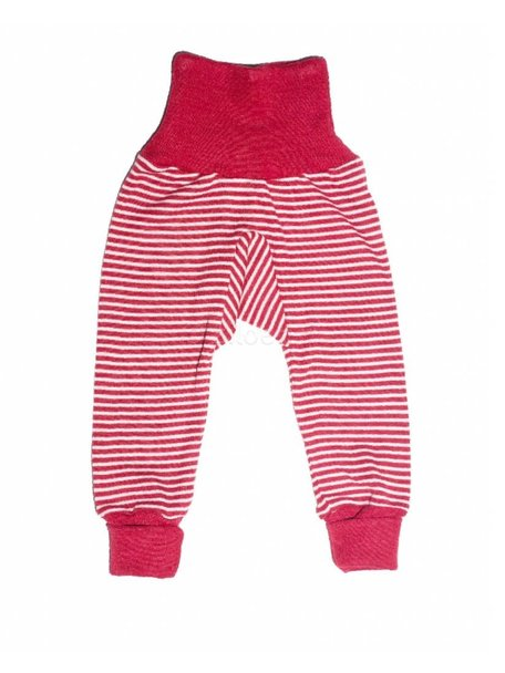 Cosilana Baby Pants Striped Wool/Silk - Red