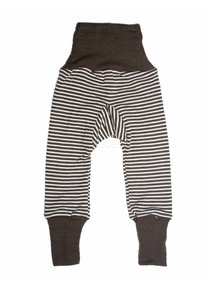 Cosilana Baby Trousers Wool / Silk Striped - brown