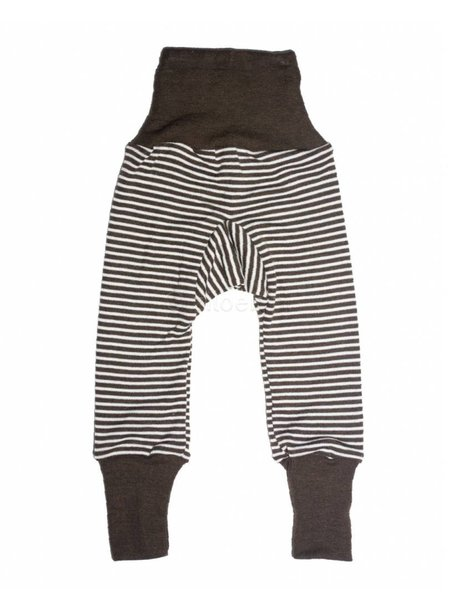 Cosilana Baby Pants Striped Wool/Silk - Brown