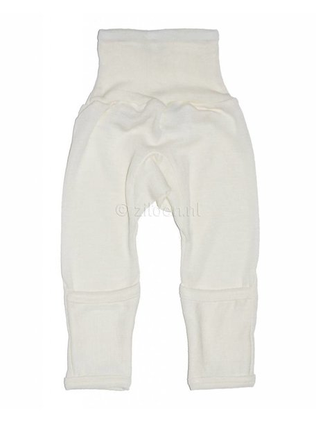 Cosilana Baby Pants With Scratch Protection Wool/Silk - Natural