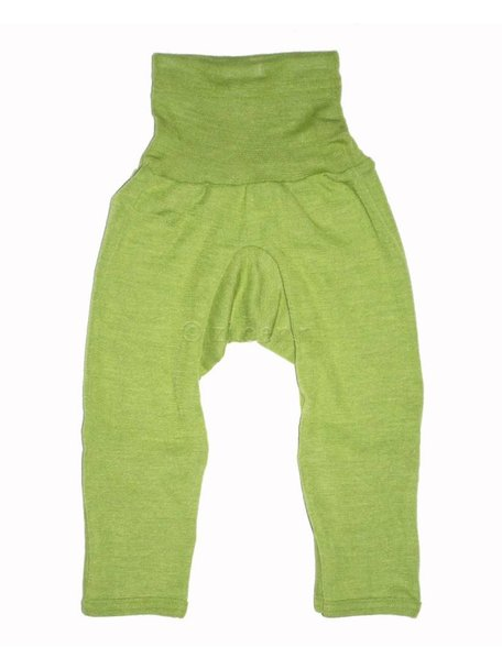 Cosilana Baby Pants With Scratch Protection Wool/Silk - Green