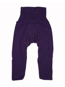 Cosilana Baby Trousers With Scratch Protection Wool / Silk - purple