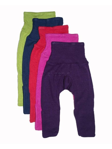 Cosilana Baby Pants With Scratch Protection Wool/Silk - Purple