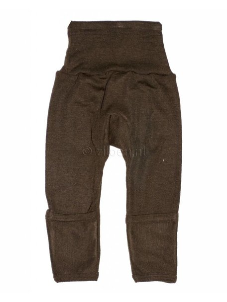 Cosilana Baby Pants With Scratch Protection Wool/Silk - Brown
