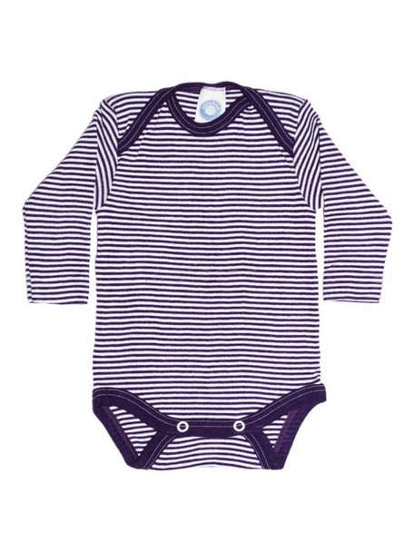 Cosilana Baby Body Striped Wool/Silk - Purple