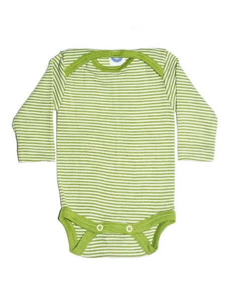 Cosilana Baby Body Striped Wool/Silk - Green