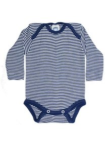 Cosilana Baby Body Striped Wool/Silk - Blue