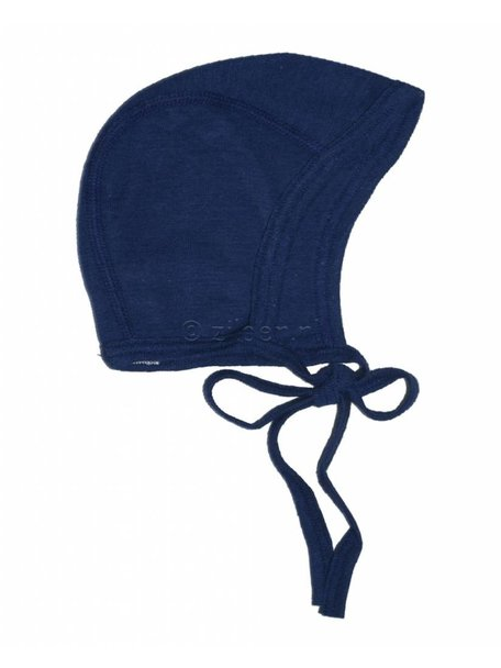 Cosilana Baby Bonnet Wool/Silk - Navy